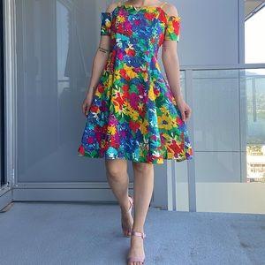 Vintage Floral Dress 100% Cotton
